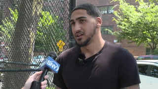 Brooklyn-born Knicks forward Obi Toppin conducts a youth basketball camp in his hometown