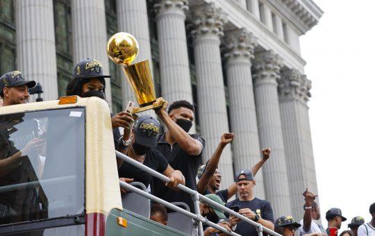 Milwaukee Bucks' fans celebrate NBA championship with parade