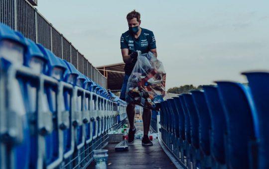 Vettel limpió Silverstone