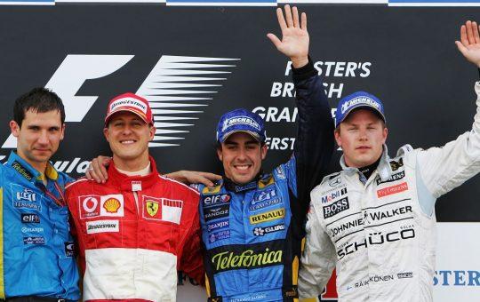 Los pilotos con más temporadas en la F1
